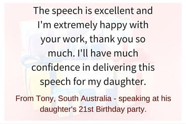 Speech writing service