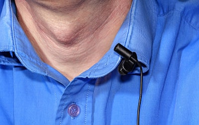 Using a lavalier microphone