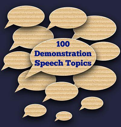 best demonstration speech topics