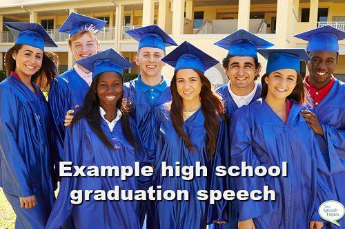 Example high school graduation speech