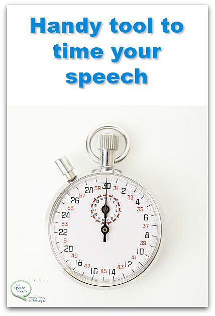 time your speech